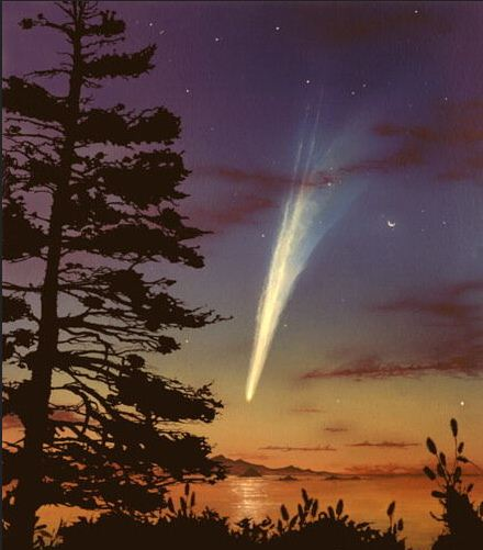 the age of comets Normally, comets are inert when they are beyond the orbit of jupiter, so it has been speculated that comet hale-bopp is either a rather large comet or experienced a bright outburst (or both) the comet is the brightest comet since comet west in 1976.